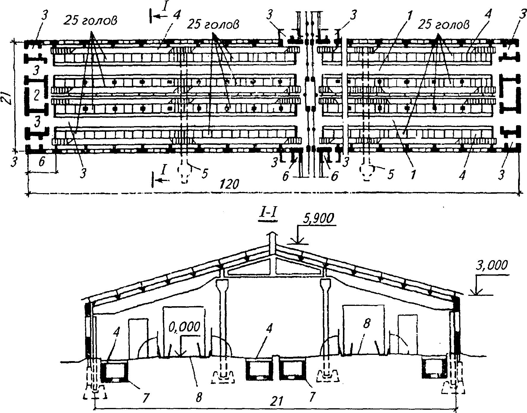 Как построить коровник на 20, 50, 100 голов - проект и пошаговая инструкция с чертежами, фото и видео