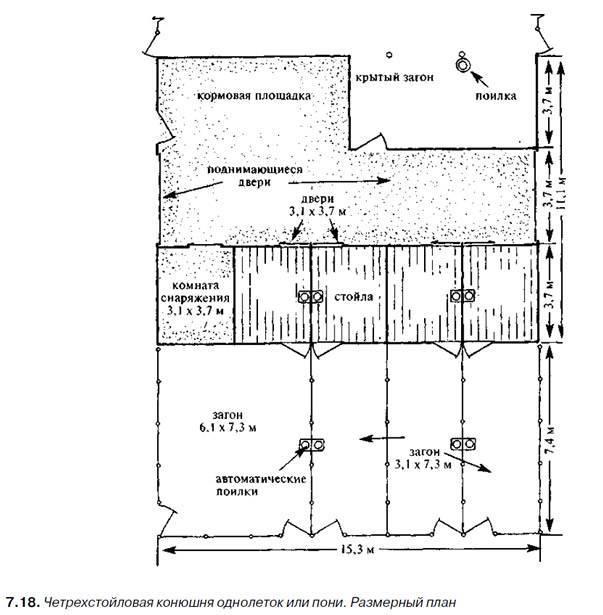 Конюшня в частном доме — правила постройки и обустройства