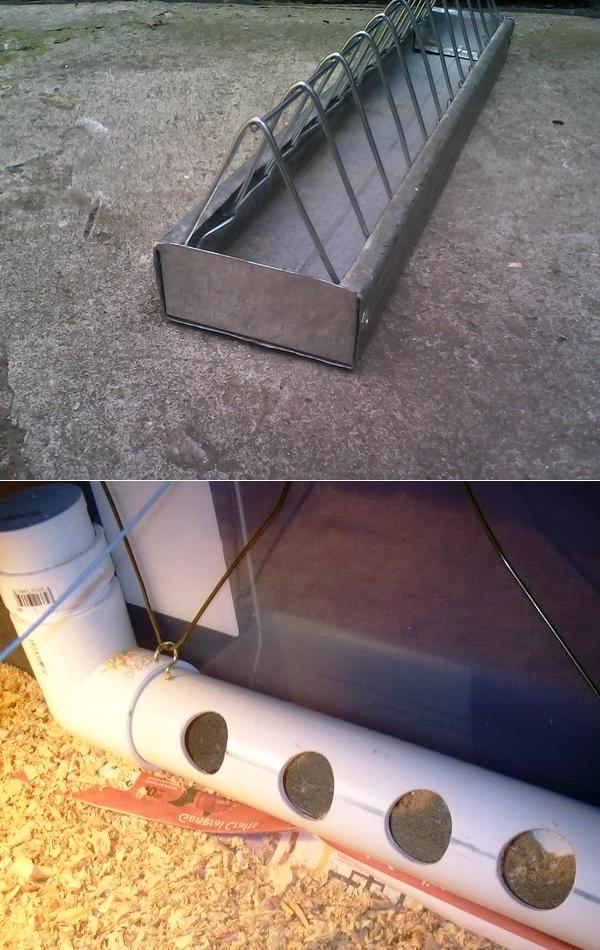 Кормушка для кур из канализационной трубы, а также, вы узнаете, как сделать изделие своими руками из пластиковых, полипропиленовых и пвх компонентов, фото