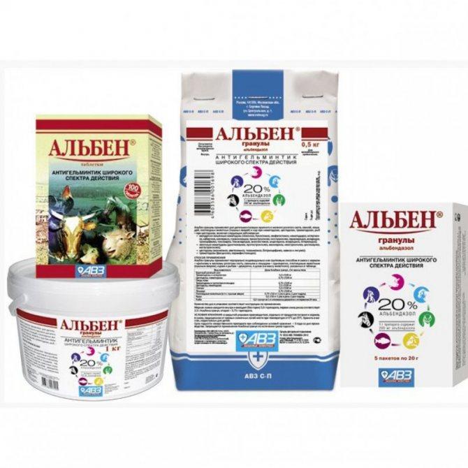 Альбен таблетки: инструкция по применению в ветеринарии для кур