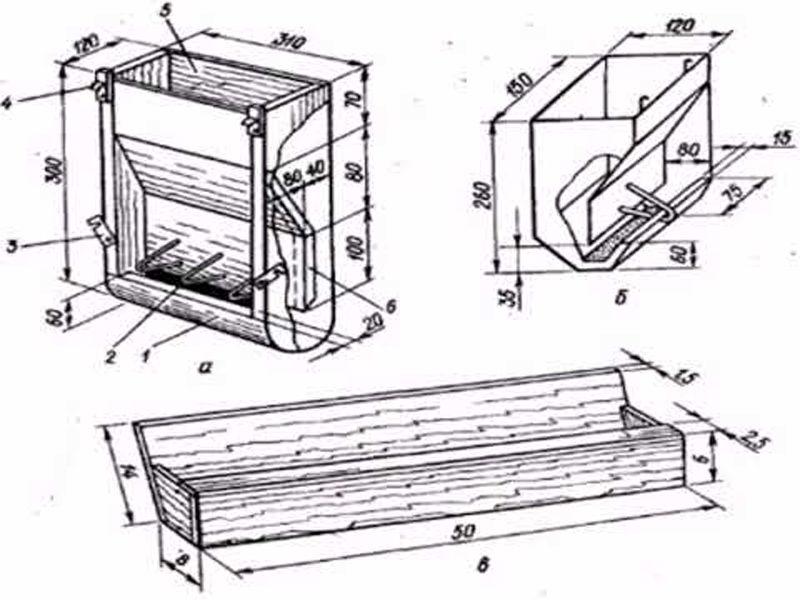 Второй вариант бункерной кормушки