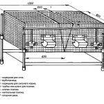 Вариант чертежа клетки для кролика пятый