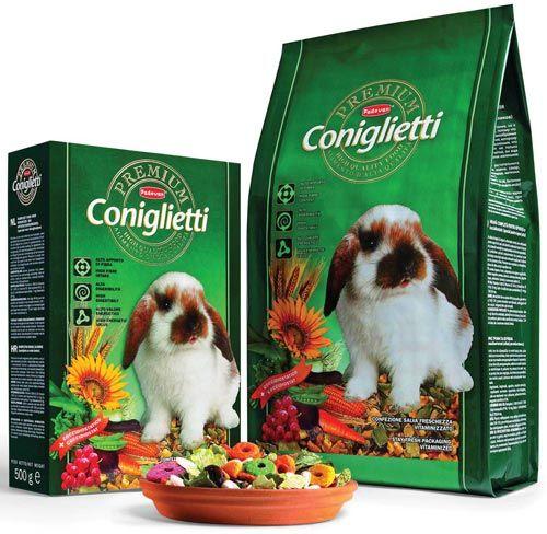 Корм для кроликов в упаковке