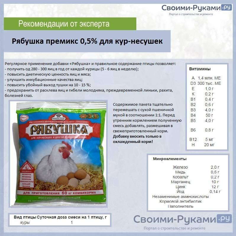 Нужна ли курочкам витаминно-минеральная добавка рябушка?