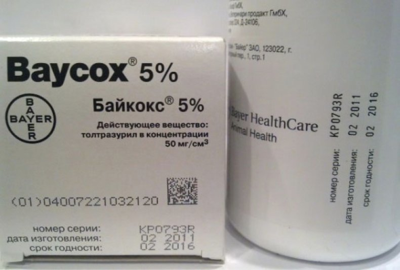 Байкокс — инструкция по применению для кролика: описание лекарства, дозировка