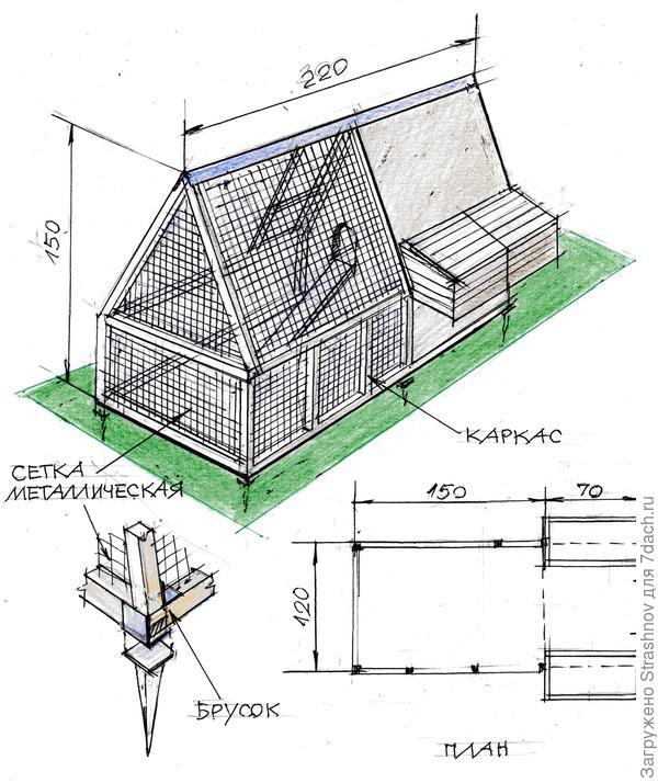 Птичник своими руками для содержания гусей и кур: инструкция