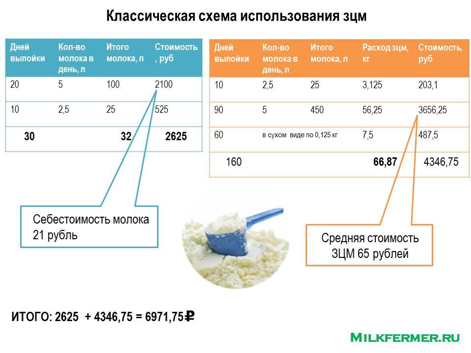 Разновидности сухого молока для кормления телят, правила использования, польза для организма животного