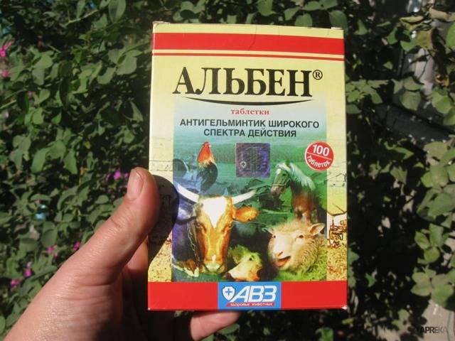 Альбен (таблетки) — инструкция по применению в ветеринарии для кур