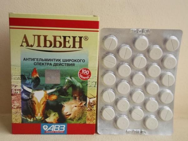 Таблетки от глистов поросятам альбен как давать