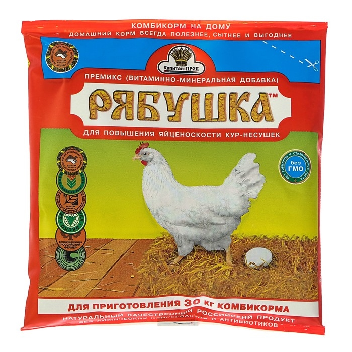 Рябушка – витаминно-минеральная добавка для кур-несушек
