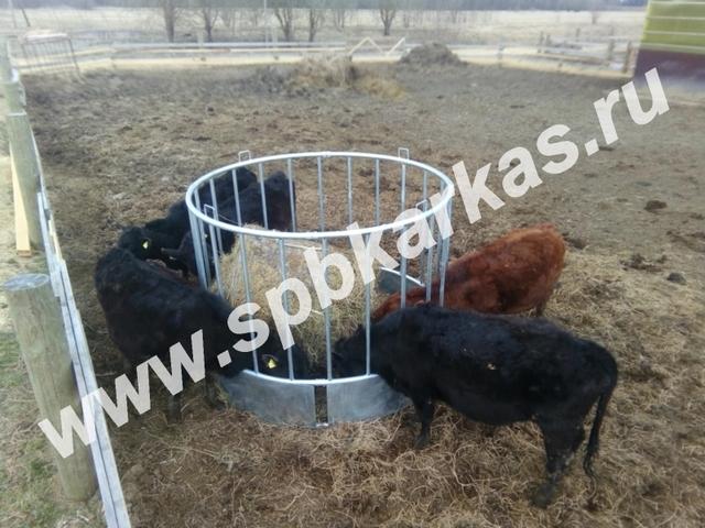 Кормушка для коров, как сделать для крс, под сено, своими руками