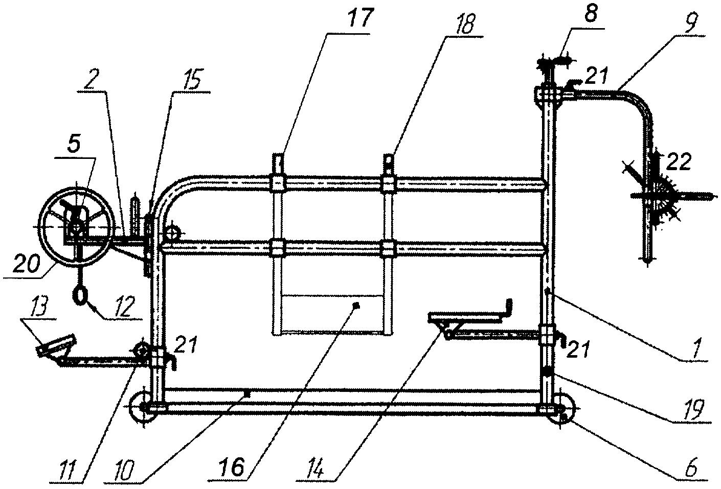 Станок (раскол) для фиксации и обработки копыт крс: схема, размеры, изготовление своими руками