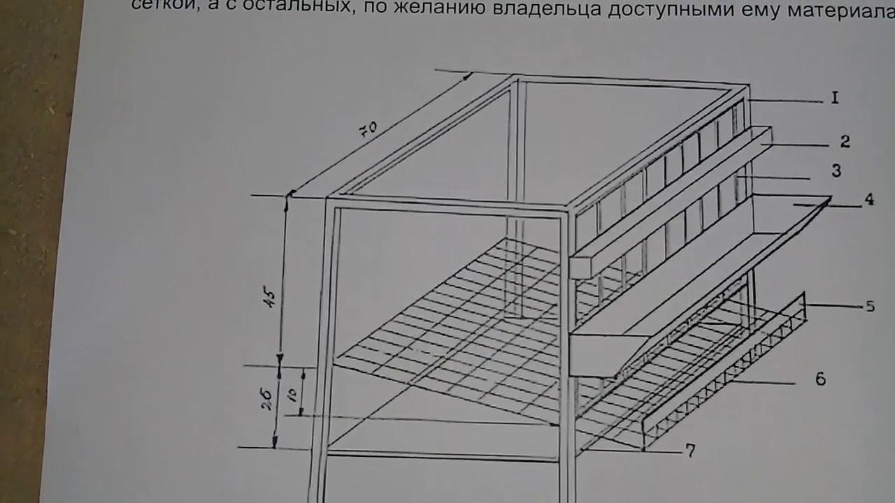 Клетки для бройлеров своими руками: чертежи и размеры