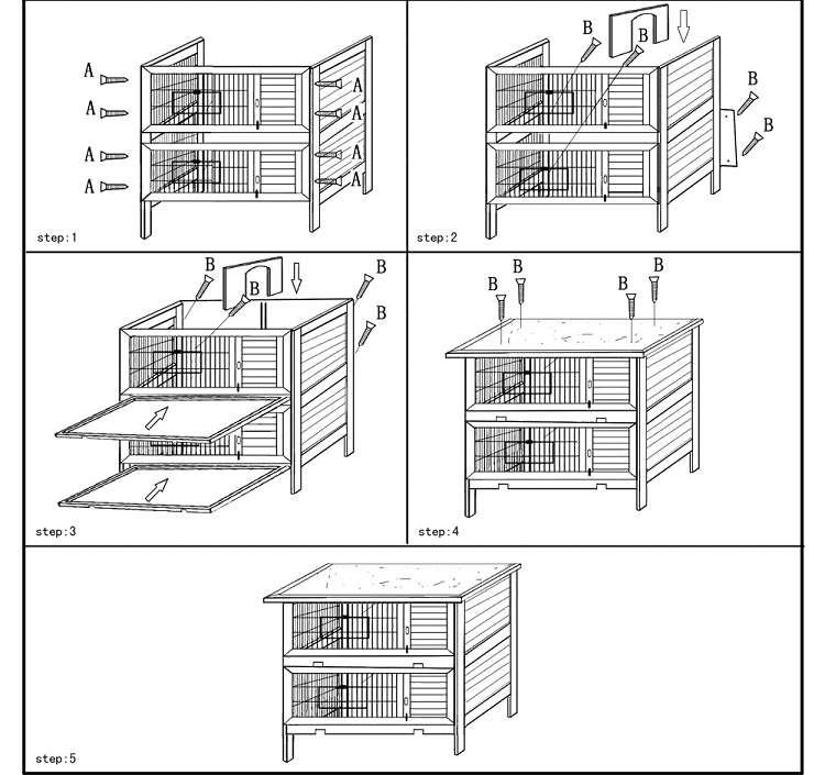 Как сделать клетку для кроликов — варианты для разного количества особей и подробные инструкции с фото!